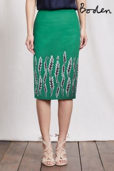 Boden Greenhouse Floral Pencil Skirt