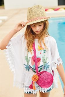 Cockatoo Embroidery Kaftan (3-16yrs)