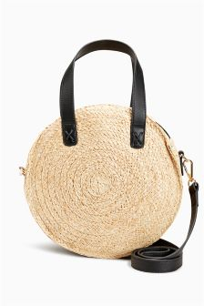Mini Circle Straw Bag