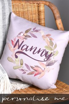 Personalised Lilac Cushion By Letterfest
