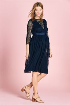 Maternity Occasion Lace Mix Dress