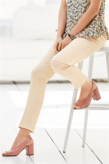 Brushed Cotton Slim Trousers