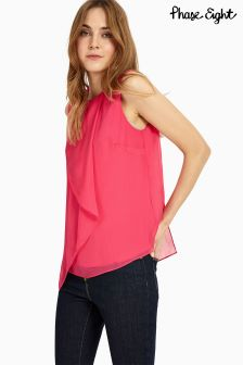 Phase Eight Pink Kylie Drape Front Blouse