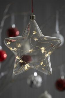 Collection Luxe Light Up Hanging Glass Star
