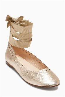 Star Cut Out Ballet Shoes (Older Girls)