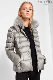 Ted Baker Grey Junnie Quilted Jacket