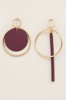 Mismatch Circle Earrings