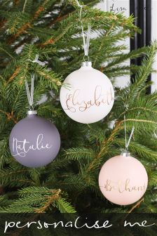 Personalised Powder Coated Bauble By Lisa Angel
