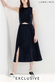 Mix/Whole 9 Yards Velvet Cutout Midi Dress