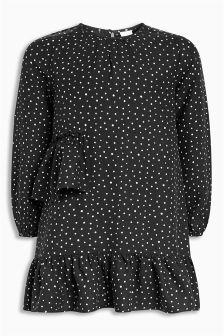 Spot Viscose Dress (3-16yrs)