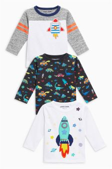 Long Sleeve T-Shirts Three Pack (3mths-6yrs)