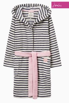 Joules Navy Stripe Dressing Gown