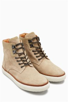 Suede High Top Boot