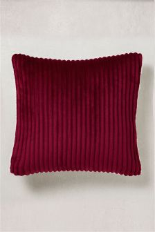 Ribbed Fleece Cushion