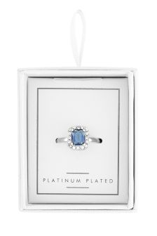 Plated Blue Stone Ring