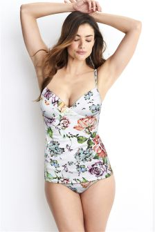 Floral Underwired Tankini Top