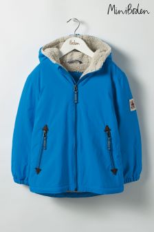 Boden Blue Sherpa Lined Anorak