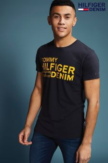 Tommy Hilfiger Denim Blue Basic Logo T-Shirt