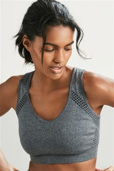 Reversible Medium Impact Non Wire Sports Bra
