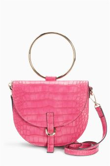 Mini Croc Effect Ring Bag