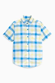 Short Sleeve Gingham Shirt (3-16yrs)