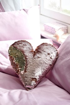 Sequin Heart Cushion