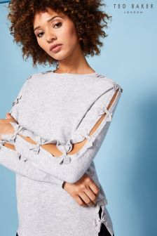 Ted Baker Grey Sakarie Bow Sleeve Knit