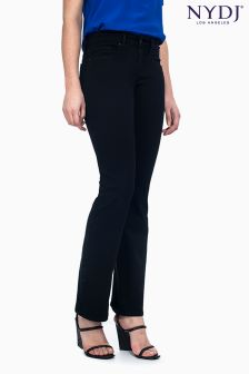 NYDJ Black Slim Boot Cut Jean Regular Length