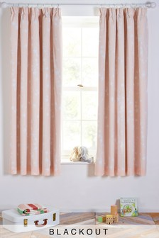 Sleepy Stars Blackout Pencil Pleat Curtains