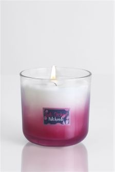 Dark Orchid And Patchouli Ombre Candle