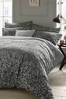 Jigsaw Expressionist Grey Floral Duvet Cover