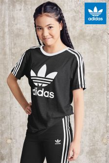 adidas girls. adidas originals 3 stripe trefoil tee girls i