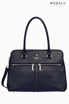 Modalu Navy Pu Pippa Classic Grab Bag