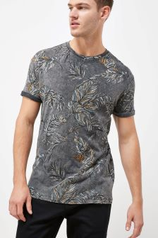 Leaves Acid Wash T-Shirt