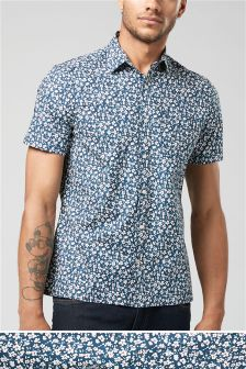 Short Sleeve Floral Printed Shirt