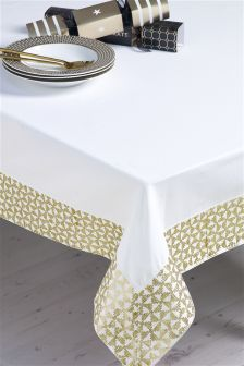 Gold Embroidered Tablecloth