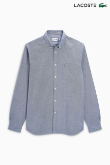 Lacoste® Navy/White Fine Print Shirt