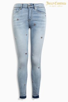 Juicy Couture Butterfly Embroidered Skinny Fit Jean