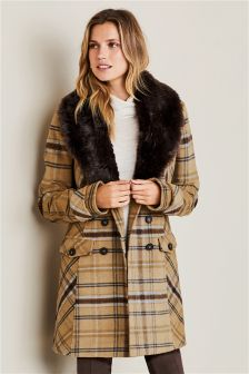 Womens Faux Fur Coats & Jackets | Gilets & Body Warmers | Next UK