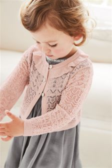 Sparkle Pointelle Shrug (3mths-6yrs)