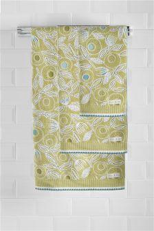 Floral Jacquard Towels