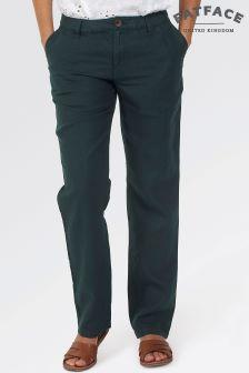 Fat Face Navy Linen Trouser