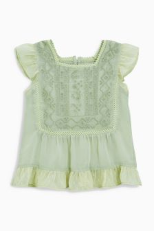 Ethnic Embroidered Blouse (3-16yrs)