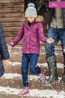Joules Burgundy All Weather Parka