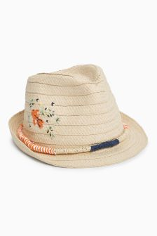 Embroidered Trilby (Younger Girls)