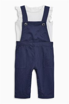 Spot Playsuit And T-Shirt (3mths-6yrs)
