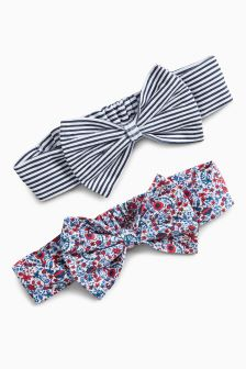 Bow Headbands Two Pack (0mths-2yrs)