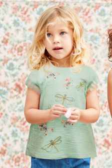 Embellished Dragonfly T-Shirt (3mths-6yrs)