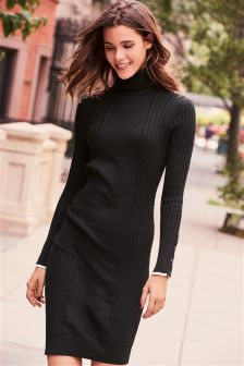 Roll Neck Dress