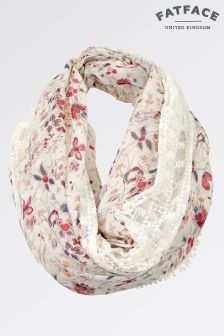 Fat Face Ivory Ella Floral Lace Snood